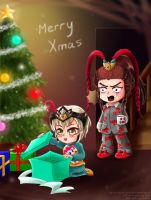Secret Santa Lu Bu Xmas by EdgeKagami