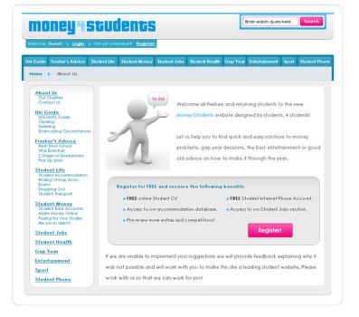 Money4Students.CO.UK - Website by leviiathan