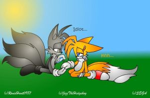 Merrick and Tails: Helping Tails by RoninHunt0987