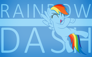 MLP Wallpaper - Minimalist Rainbow Dash by MatrixChicken