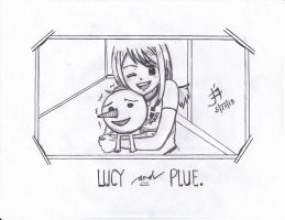 Lucy and Plue by flammaimperatore