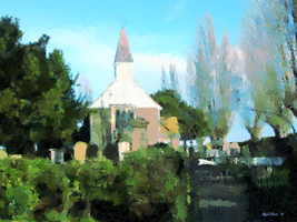 An Impression of Ifield Church by Nigel-Hirst