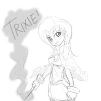 Humanized Trixie sketch by Doggie999