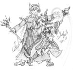 Nostale FanArt: Holy Mages by GhostHead-Nebula