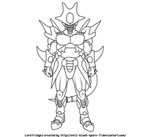 .:DB Xenoverse:.Lord Fridgel lineart W/ background by Evil-Black-Sparx-77