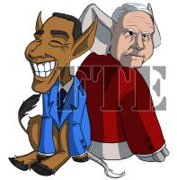 Obama vs McCain by ftepainting