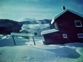 Crooked Houses Of Norway by andyisdead