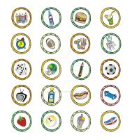 button art food and sporty by andifitriyanto