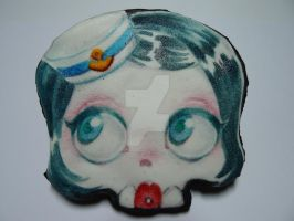 halloween chocolate cookie skull pin up by ALI-MALBICHO