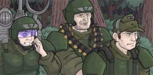 Cadians - unfinished comic pan by DarkCloak