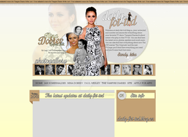 Nina Dobrev Layout by Lexigraphic