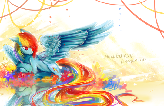 Rainbow Dash by AquaGalaxy