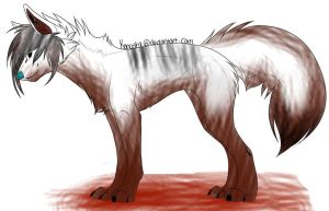Bloody scene wolf adopt :open: by Bespattered94