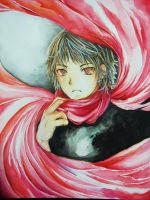 The Red Scarf by Pae-kym