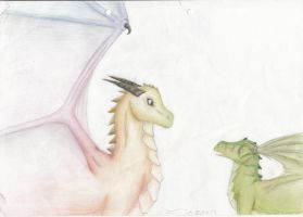 Juron with the Rainbow Dragon by Leopardenschweif