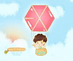Happy bday Yixing by LuluChopper