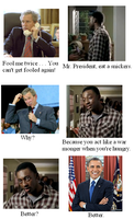 Mr. President eats a Snickers by Winter-Phantom