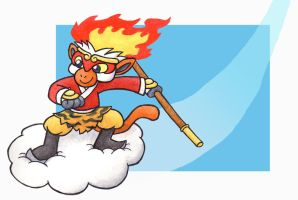 Monkey King Infernape by Cattype