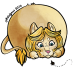 Chubby bubble lion me by Adalgeuse
