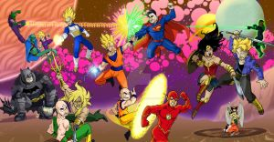 DBZ vs Justice League by wheretheresawil