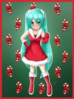 Miku - Merry Christmas by LadyGalatee