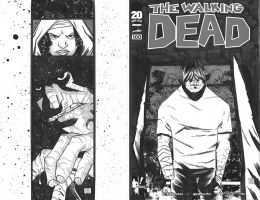 Walking Dead 100 Sketchcover by ryancody