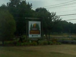 Hershey Park -  Campground Sign by Spooneh21