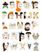 P and F Alphabet by mbaboon