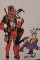 Deadpool and Harley by Gigatoast