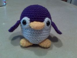 purple penguin by diygirl