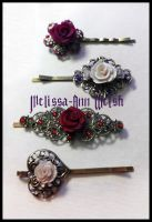 Rose Hair clips by hugmemel