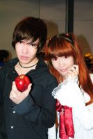 Yagami Light and Amane Misa by Angie1401