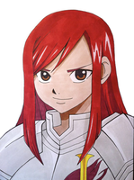 Fairy Tail: Erza by Oskar-Draws