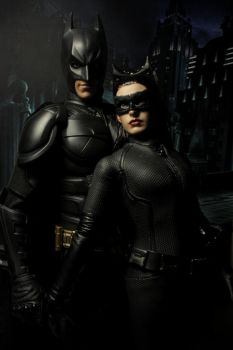 Batman and Catwoman Hot Toys by JawZ270589