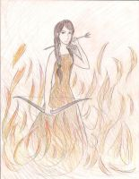 Girl on Fire by TheBritishGeek