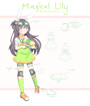 OC - Magical Girl Lily by DoodleBunni