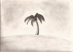 Charcoal Palm by OneOfLifesMysteries