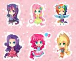 -- My Little Pony Gijinka Keychains -- by Kurama-chan