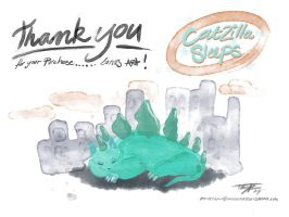 catzilla thank you card 2014 by mrcatTEARS