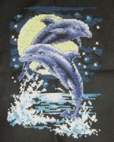 Dolphins Cross Stitch by ALS123