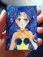Luna ( Sailor Moon ) Human Form ACEO COPIC by Lemonsquasch