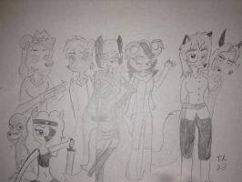 Pretty kitty crew by TheDogwhitaTail