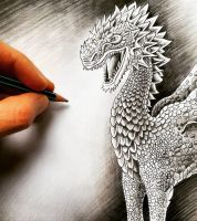 Dragon - Sketch in Progress by BenHeine