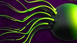 Green Squid in Purple by StarwaltDesign
