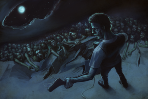 zombie concert by Nonparanoid