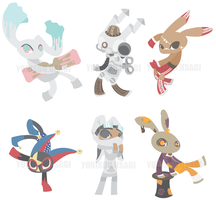 Bunny OCs by Artsickle