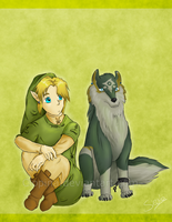 the Man and the Wolf by Clopina