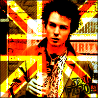 Sid Vicious and The Union Jack by Sebasshole