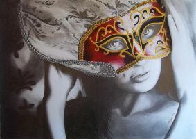 Woman with mask by Angua33