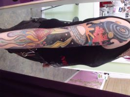 Outer space sleeve in progres2 by IAteAllMyPaste